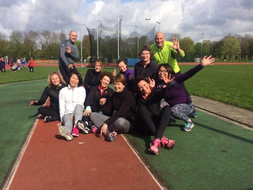 Start-to-run-groep met trainer Dirk Beelen