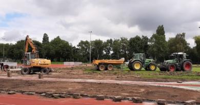 Renovatie atletiekbaan